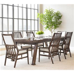 Stanley Furniture Newel 7-Piece Rectangular Dining Table Set