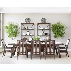 Stanley Furniture Newel 9-Piece Rectangular Dining Table Set