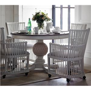 Stanley Furniture Preserve 5-Piece Artichoke Pedestal Table Set