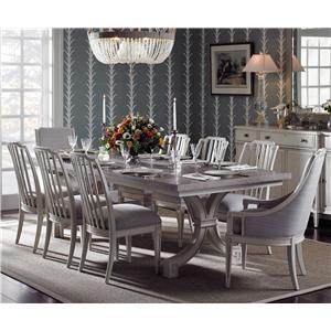Stanley Furniture Preserve 9-Piece St. Helena Trestle Table Set