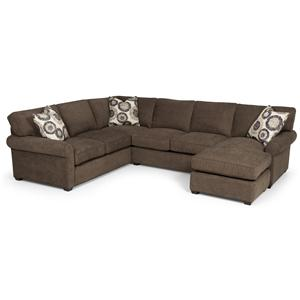 Sunset Home 225 Transitional 2 Piece Sectional
