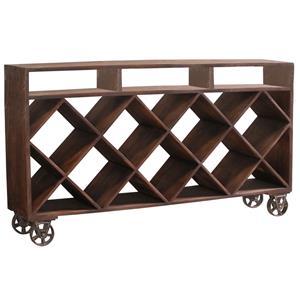 Stein World Accent Tables Ruthe Wine Rack Server