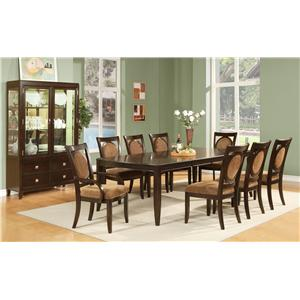 Steve Silver Montblanc 9Pc Dining Room