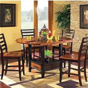 Steve Silver Abaco 5-Piece Square/Round Gathering Table Set