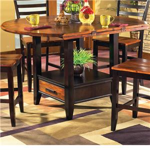"Steve Silver Abaco 59"" Round Drop Leaf Table"