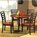 Steve Silver Abaco Solid Wood Ladder Back Side Chair - Chairs with Round Drop Leaf Table