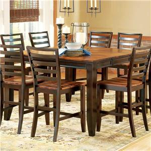 Abaco Solid Wood Acacia Top Rectangular Leg Table With