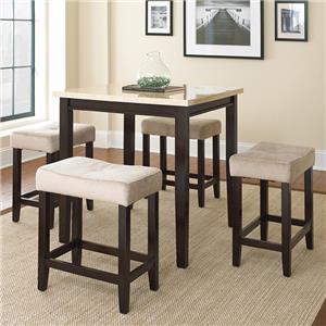 Steve Silver Aberdeen 5 Piece Counter Table Set