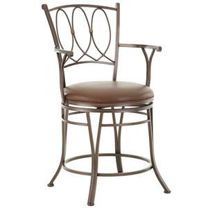 Steve Silver Beverly Jumbo Swivel Bar Chair