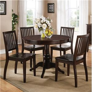 Steve Silver Candice 5 Pc. Pedestal Table with Chair Dining Set