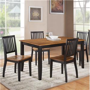 Steve Silver Candice 5 Pc. Rectangular Table and Chair Dining Set