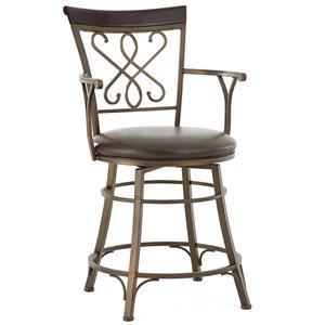 Steve Silver Carmona Jumbo Swivel Counter Chair with Armrest