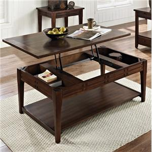 Steve Silver Crestline Lift Top Cocktail Table with Casters