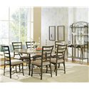Steve Silver Ellen Metal Backers Rack - Shown with Rectangular Table and Side Chairs