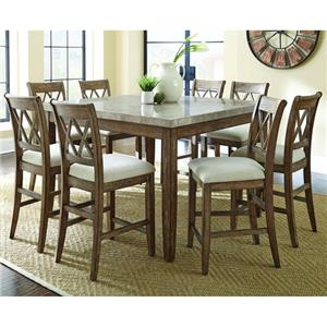 Steve Silver Franco Table and Four Chairs Pub Dining Set