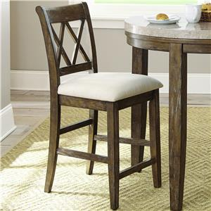 Steve Silver Franco Double X Back Counter Chair