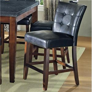 Steve Silver Granite Bello Black Vinyl Counter Height Parsons Chair