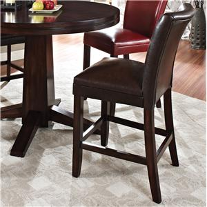 "Morris Home Furnishings Glenhaven Glenhaven 24"" Brown Barstool"