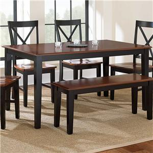 Steve Silver Kingston Rectangular Leg Table