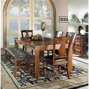 Steve Silver Lakewood  6-Piece Dining Table Set w/ Bench
