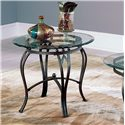 Star Madrid End Table Base & Glass Top