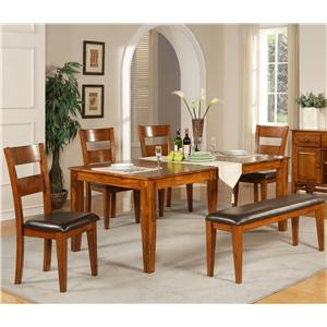 Vendor 3985 Mango 6 Pc. Table Set with Bench