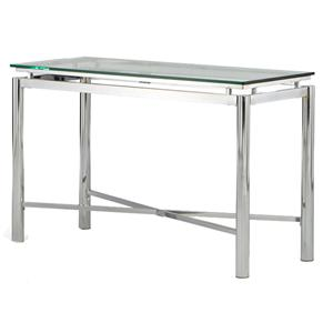 Steve Silver Nova Glass Top Sofa Table