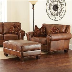 Steve Silver Silverado Chair and a Half with Ottoman