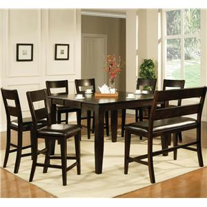Vendor 3985 Victoria  8 Piece Counter Height Dining Set