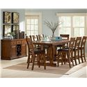 Steve Silver Zappa 9 Piece Counter Height Table & Chair Set - Shown with Buffet Server