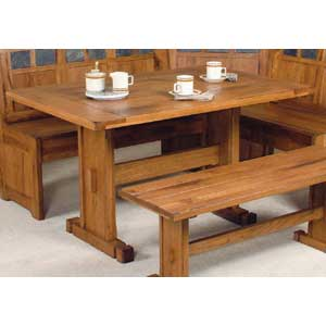 Sunny Designs Sedona Rustic Oak 4 Piece Breakfast Nook Set