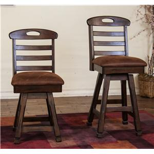 "Morris Home Furnishings Sundown 30"" Swivel Barstool"