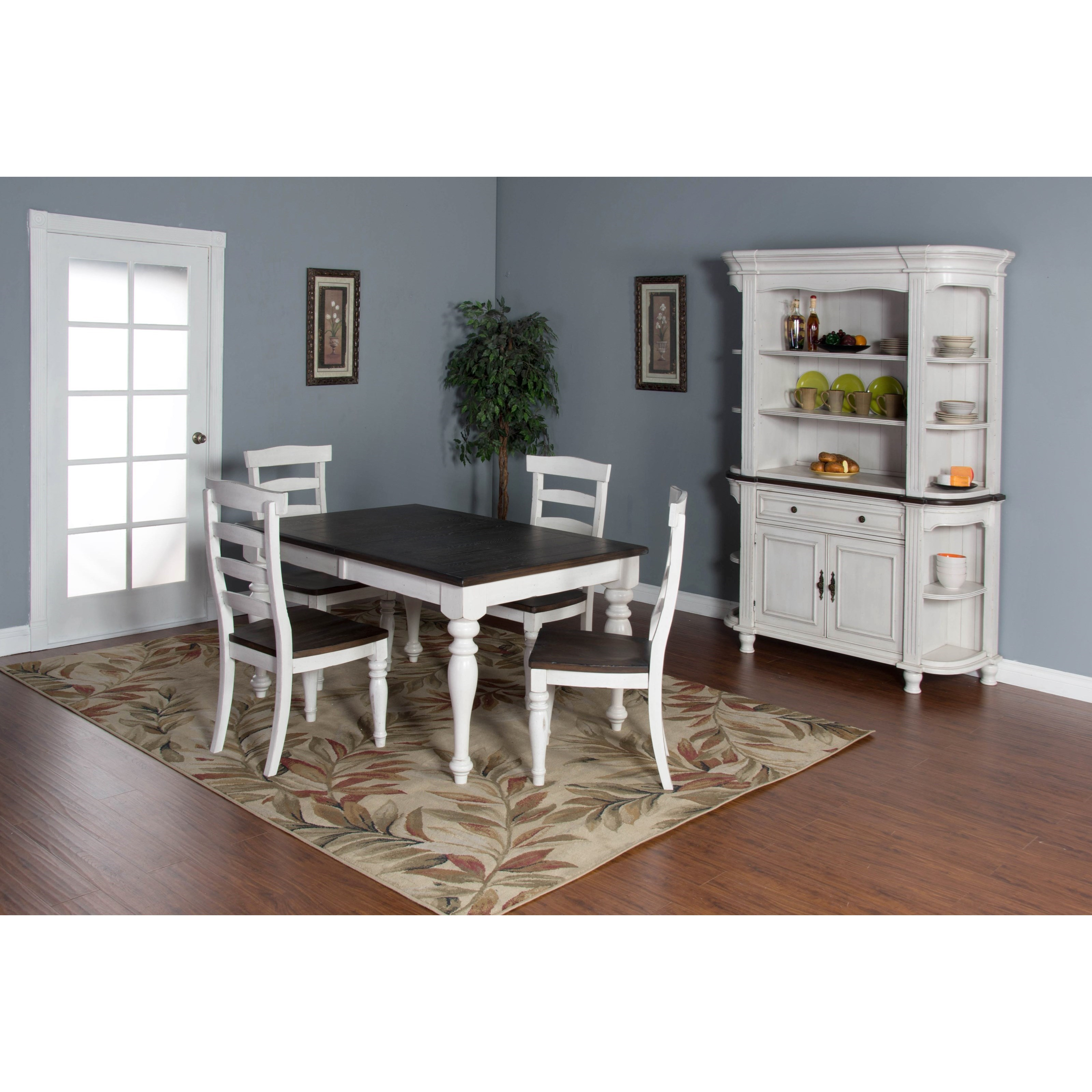 5piece extension dining table set