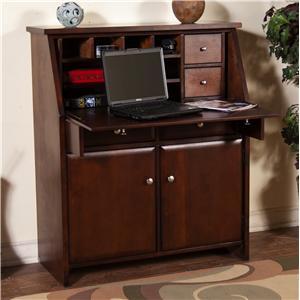 Sunny Designs Cappuccino Drop Leaf Laptop Desk Armoire