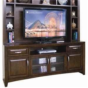 Sunny Designs Cappuccino Wide TV Console