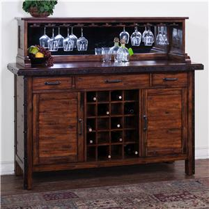 Sunny Designs Crosswinds Server & Hutch