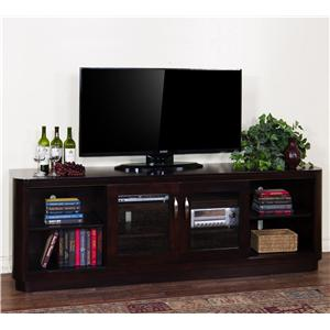 "Sunny Designs Monterey 85"" TV Console w/ Sliding Doors"