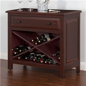 Sunny Designs Red Accent Chest w/ Wine Storage