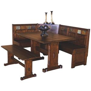 Sunny Designs Santa Fe 4 Piece Breakfast Nook Set
