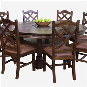 Sunny Designs Santa Fe Round Dining Table