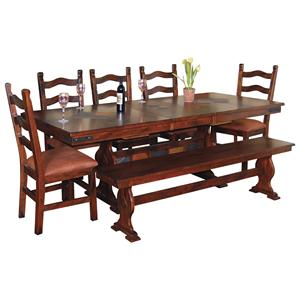 Sunny Designs Santa Fe Rectangular Dining Table and Chair Set