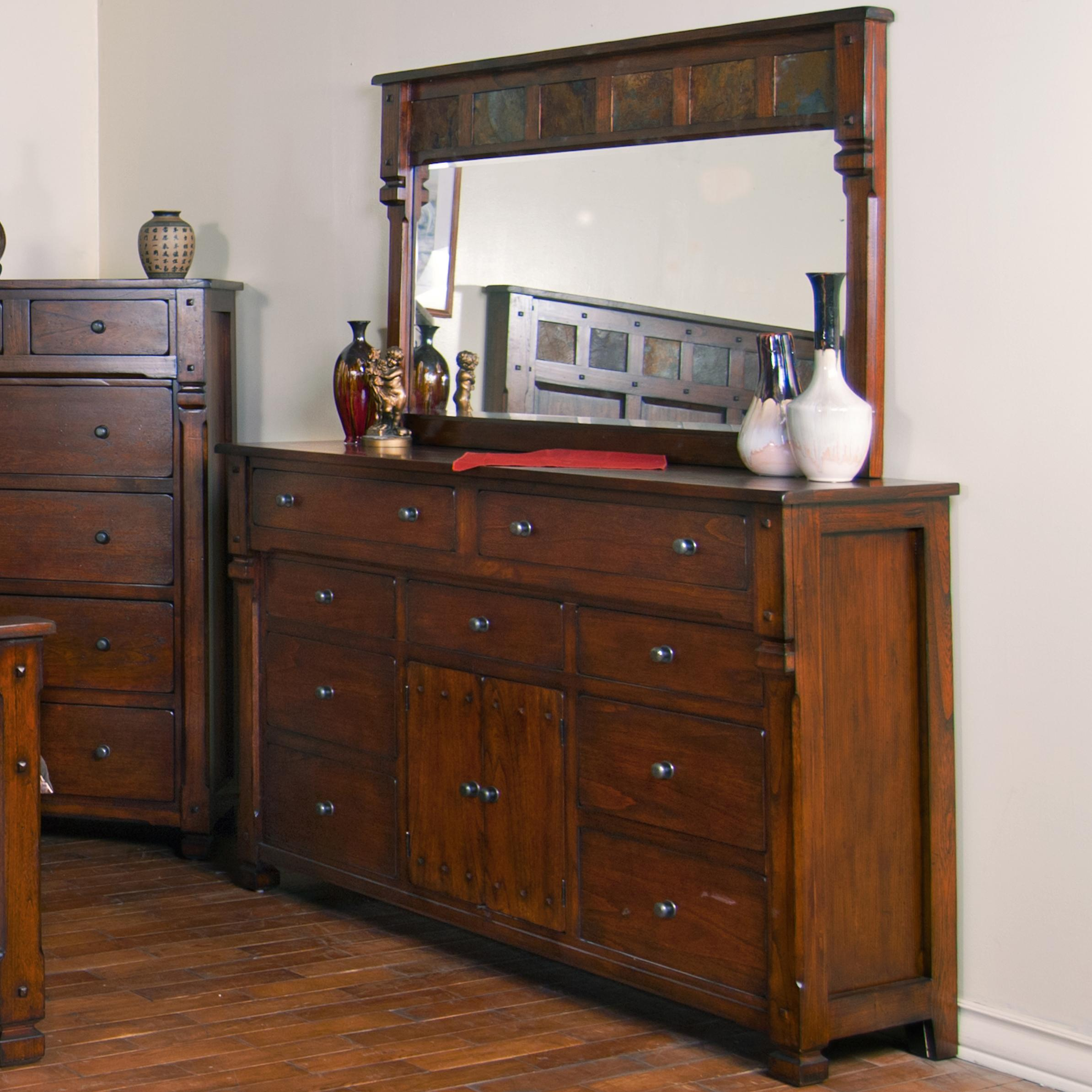9 Drawer, 2 Door Dresser