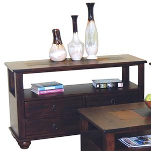 Sunny Designs Santa Fe 4 Drawer Sofa Table