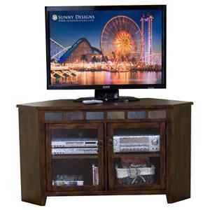 Sunny Designs Santa Fe 55 Inch Corner TV Console