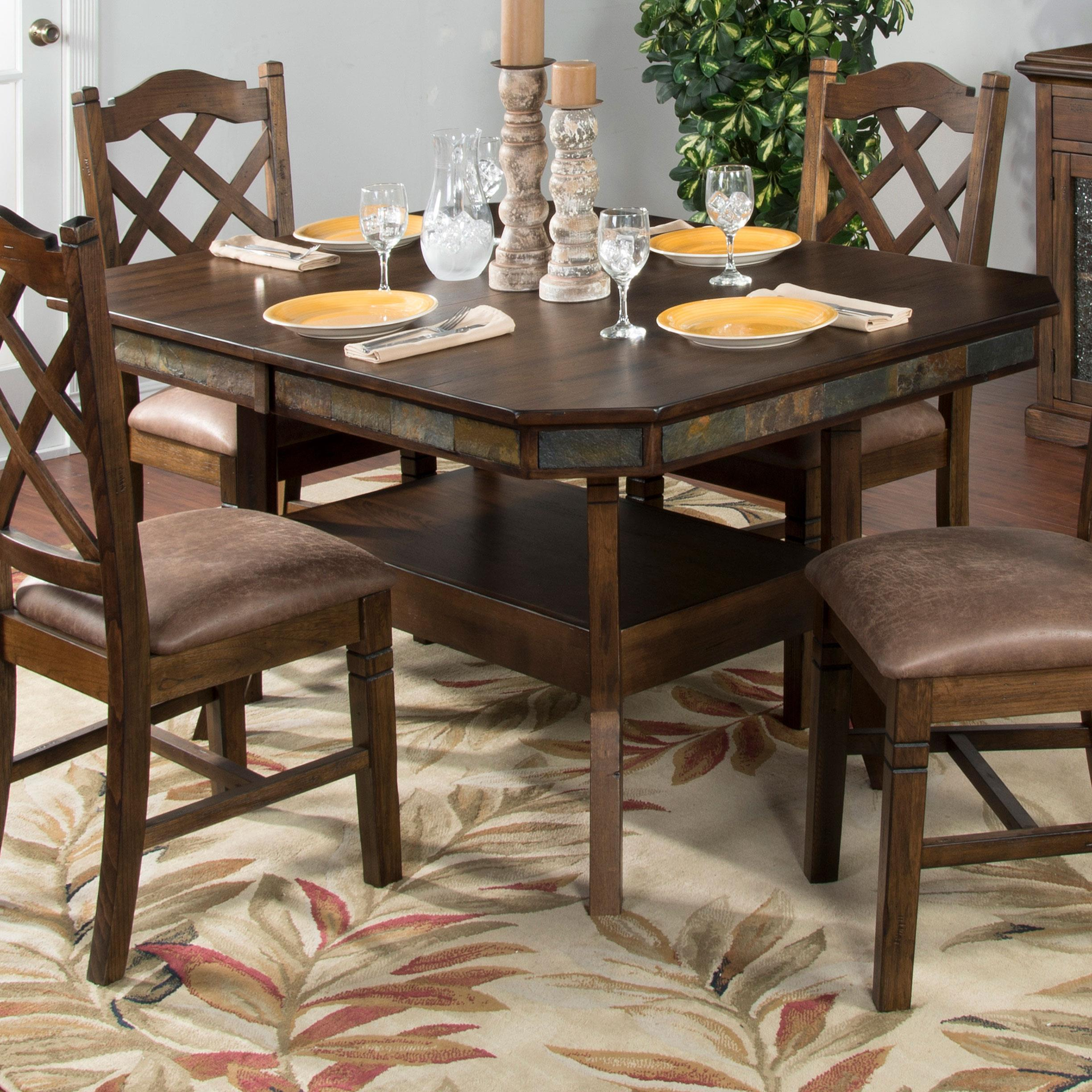 Dining Room Tables With Leaves: Adjustable Height Dining Table W/ 2 Butterfly Leaves By Sunny Designs