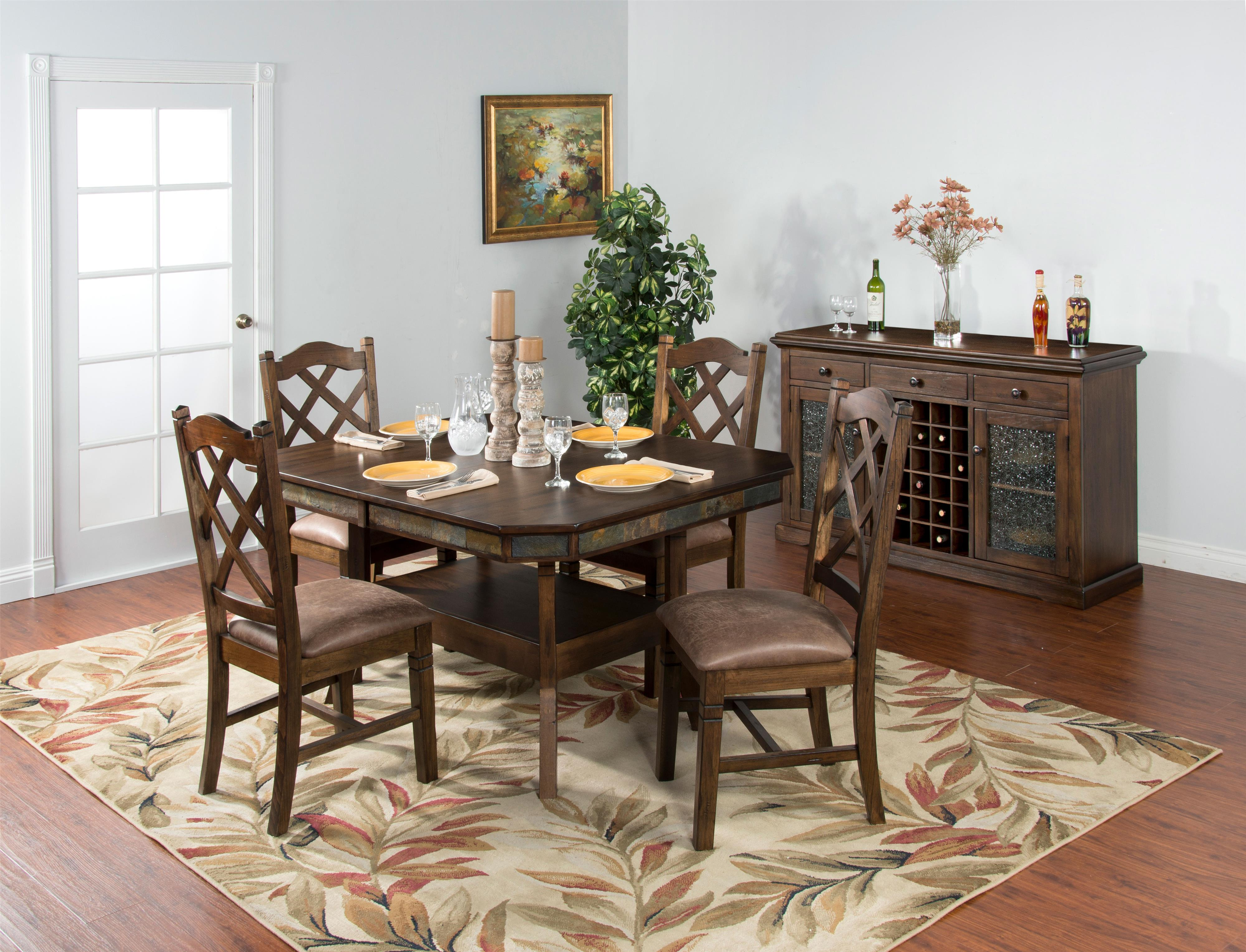 Adjustable Height Dining Table w 2 Butterfly Leaves by Sunny