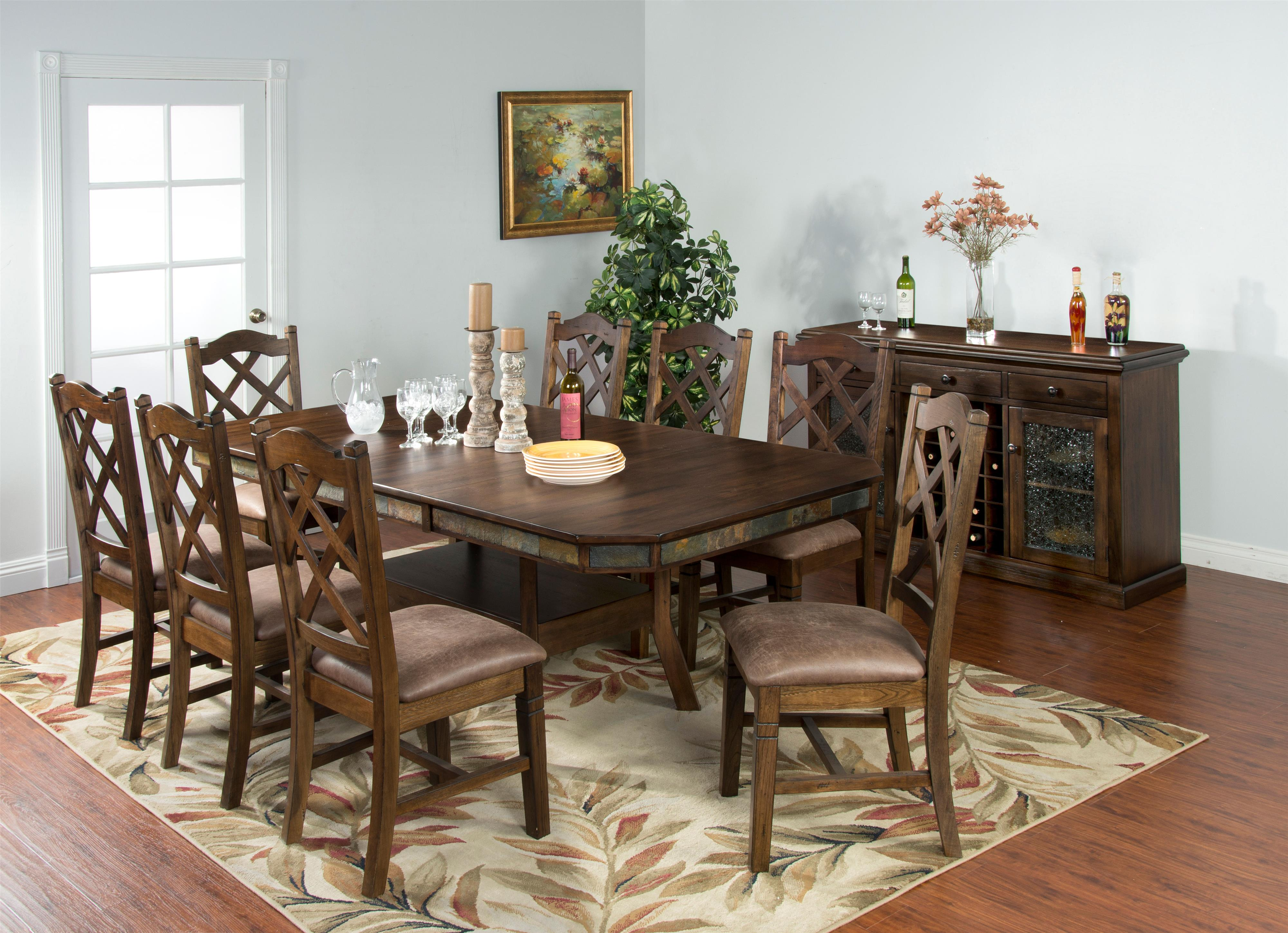 Good Adj. Height Dining Table W/ 2 Leaves