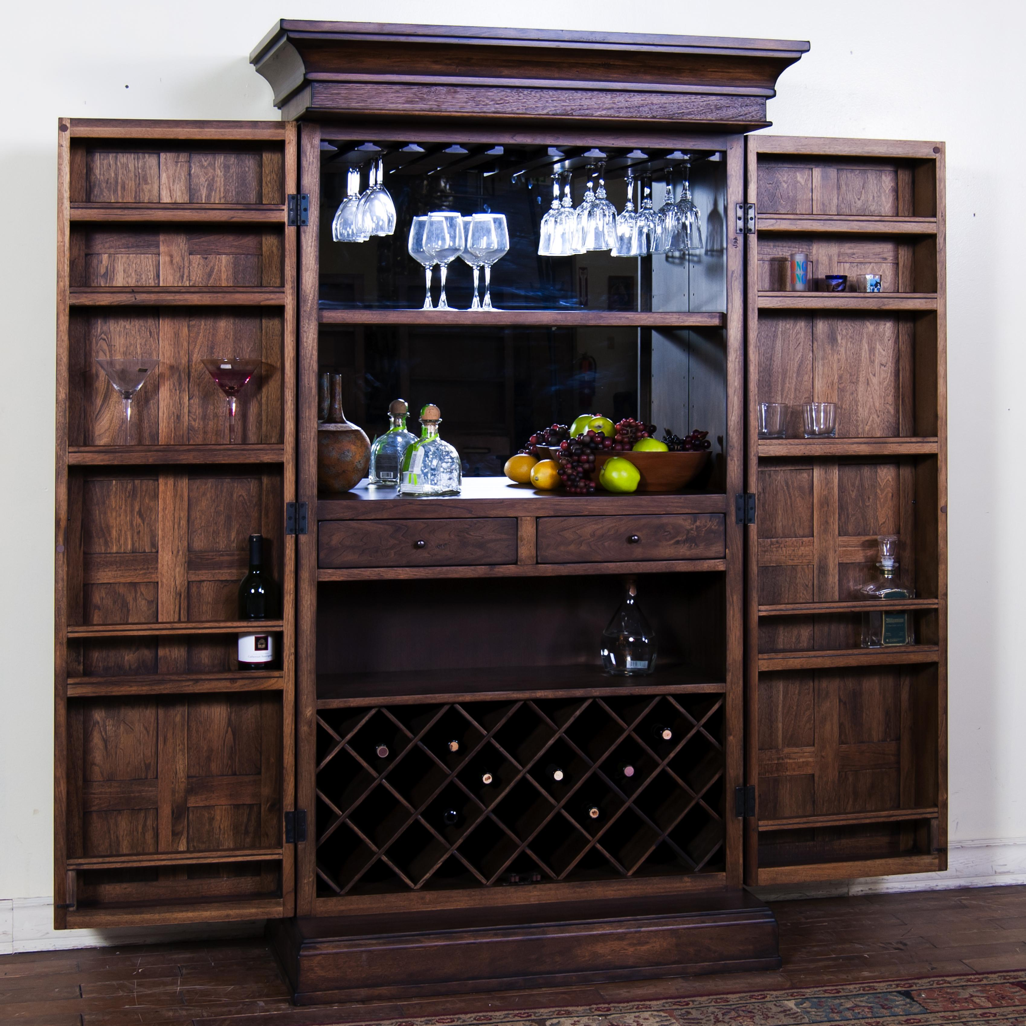 bar cabinet furniture bar armoire by designs wolf and gardiner wolf 10908