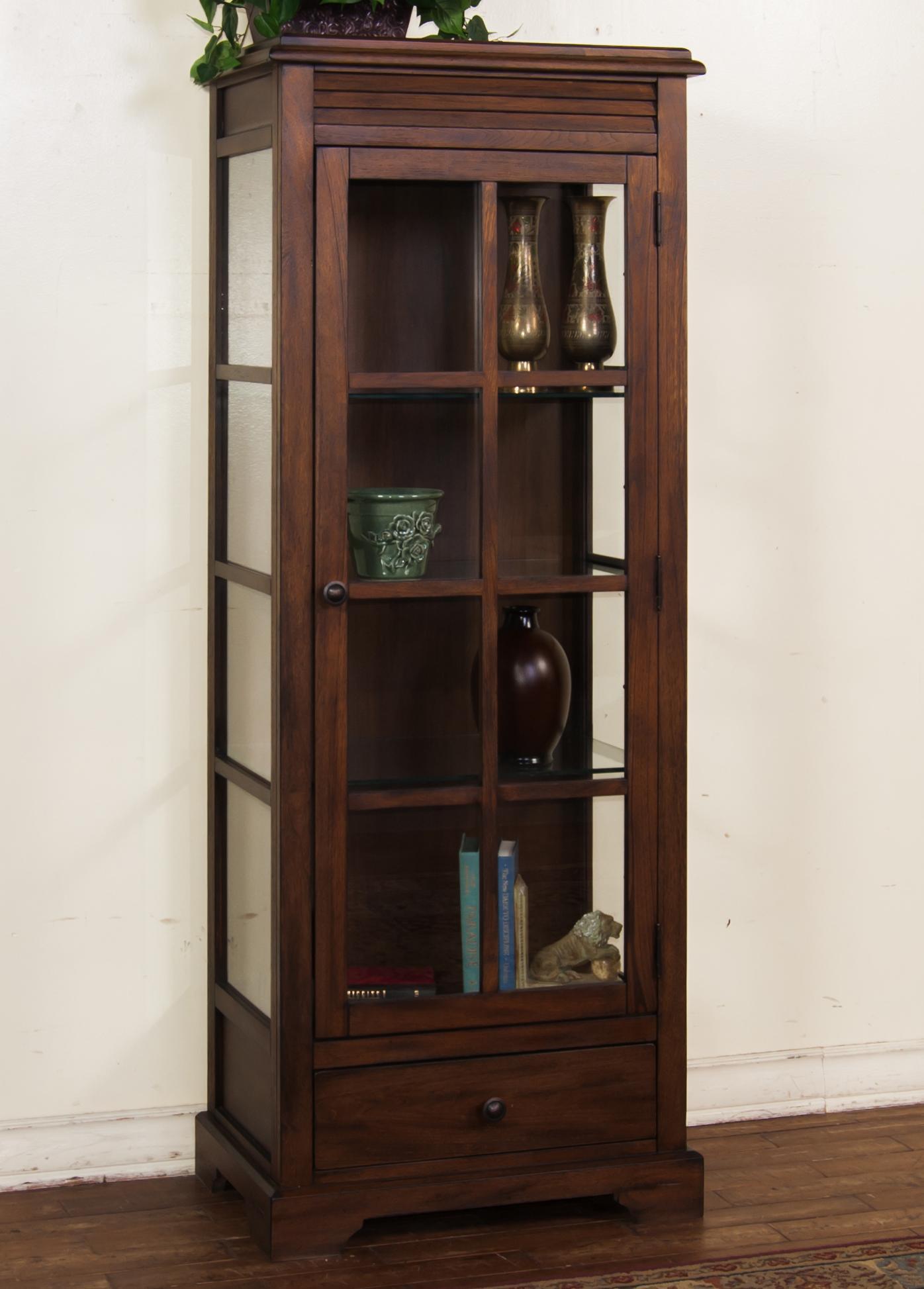 Birch Curio Cabinet By Sunny Designs Wolf And Gardiner Wolf Furniture