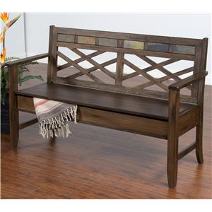 Sunny Designs Savannah Bench w/ Storage